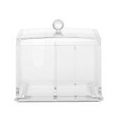 Hisopo de algodón acrílico organizador caja lápiz labial cosmético titular de almacenamiento maquillaje caja de almacenamiento portátil algodón almohadillas
