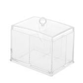 Acrylic Cotton Swabs Organizer Box Lipstick Cosmetics Storage Holder Makeup Storage Box Portable Cotton Pads Container