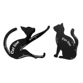 2pcs / pack Cat Line Stencils Карты Eye Makeup Tool Eyeliner Eyeshadow Template Shaper Model