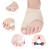 Fußpflegeset 9 Stück feine Qualität Hallux Valgus-Orthese Set Ring-Typ Split-Toe-Typ Doppel Orifice-Typ Peep-Toe Care Kit Spannband