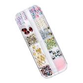 Новые 12 стилей Смешанные украшения для ногтей Модные инструменты для ногтей Инструмент для бриллиантовой жемчужины Подходит как для профессионального салона ногтей, так и для личного дизайна DIY