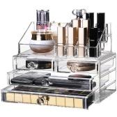 Большая емкость Акриловая коробка для хранения Косметический ящик для ювелирных изделий Модный Прозрачный инструмент для инструментов для макияжа