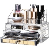 Große Kapazität Acryl Aufbewahrungsbox Kosmetik Schmuck Schublade Mode Transparent Make-Up Tool Organizer