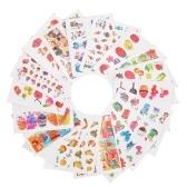 18 Blatt-Nagel-Aufkleber-Satz mischte Schmetterlings-Blumen-Muster-Nagel-Papierspitzen-Nagel-Kunst-Styling-Satz DIY Wasser-Übertragung