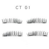 4Pcs 3D magnetische Wimpern handgemachte gefälschte Wimpern