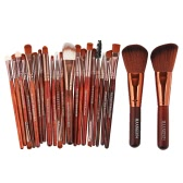 22Pcs / Set Professional Makeup Brush Set Ferramentas cosméticas Kit de limpeza natural