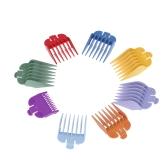 8 tamanhos de cabelo colorido Clipper Limit Comb Guide Conjunto de acessórios para cabelo elétrico Hair Shader Haircut Accessory