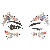 DIY Adesiva Rosto Gemas Rhinestone Jóias Tatuagem Temporária Festival Festa Corpo Glitter Adesivos Flash Temporária Etiqueta Tatuagens Fácil de Operar