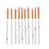 10 Stück Augen Make-up Pinsel Set leichte hölzerne kosmetische Werkzeug