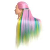 高温合成繊維合成多色グラデーションヘアトレーニングモデル