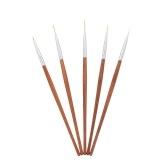 5pcs pluma del arte del clavo Set DIY dibujo pintura pincel pluma