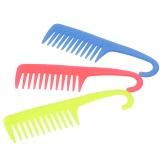 Peine de pelo creativo peine de dientes ancho grande con suspensión plástico ABS anti-estático peine de destello dientes anchos color de peluquería al azar