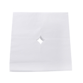 100pcs/bag Beauty Salon Face Pad Bed Table Face Hole Cover Spa Massage Disposable Breathing Sheet White