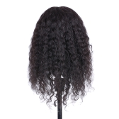 Curly Hair Mannequin Head Hairdressing Training Head for Hair Styling Practice Hair Braiding Dummy Head with 100% Human Hair Black