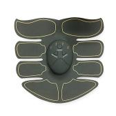 Superfície preta Amarelo Borda Kit de Fitness Inteligente Household Braço Elétrico Máquina Do Corpo Estimulador ABS EMS Trainer de Fitness Perda de Peso Massagem Corporal Emagrecimento