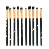 10 PCS Eye Makeup Brush Set ferramenta cosmética de madeira leve