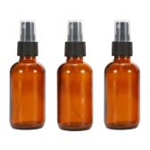 Anself Amber Glass Spray Bottle Black Fine Mist Sprayer 30ml Pack of 3 Essential Oil Chemical Perfume Atomizer Container