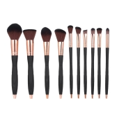 10pcs/pack Makeup Brushes Tool Set Professional Cosmetic Kit Foundation Powder Concealer Blush Eyeshadow