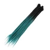1 Pack 10 PCS Постепенное изменение Handmade Dreadlocks Extensions Мода Регги Вязание крючком Хип-хоп Синтетические Dreads Вязание крючком Плетение волос 2 # 18