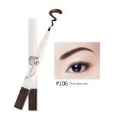 1pcs Flüssiger Augenbrauenstift mit 10 Tipps Wasserdichte Gabelspitze