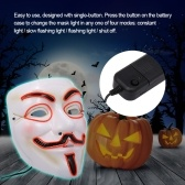Halloween Mask Wire LED Light Up Cosplay Glowing Masks