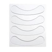 4 pezzi / set antirughe nasolabiale pad riutilizzabile silicone intorno labbra adesivi sollevamento cuscinetti viso