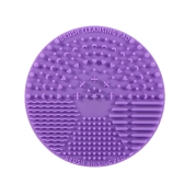 Maquiagem Brush Cleaning Mat Silicone Cosmetic Brush Lavagem Pad Escova Scrubber com Back Suction Cup