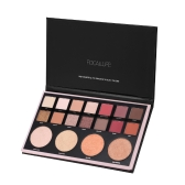 FOCALLURE 18 Colores Sombra de Ojos Pallete Pearlized Shimmer Matte Eye Shadow Set Powder Makeup Cosmetics