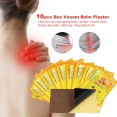 10pcs Chinese Medicines Plaster Bee Venom Balm Patches Joint Pain Killer Analgesic Body Neck Back