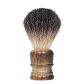 Cepillo de afeitar para hombres Mango de madera Barba Cepillo de afeitar Mango de madera Profesional Macho Maquinilla de afeitar Facial Pincel Herramienta de limpieza de la cara