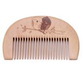 木製の髪の櫛男のひげの櫛静電気の男性ミニ顔のひげ髭の櫛木のマッサージの櫛