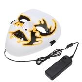 Проволочная светодиодная маска освещает маску на Хэллоуин