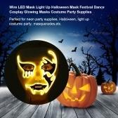 Wire LED Mask Light Up Halloween Mask