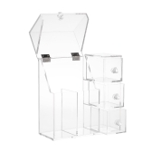 Clear Acrylic Cosmetic Makeup Brushes Organizer