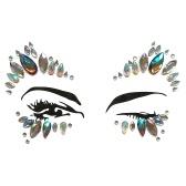 DIY Adhesive Gesicht Edelsteine Strass Temporäre Tattoo Jewels Festival Party Körper Glitter Aufkleber Flash Temporäre Tattoos Aufkleber Einfach zu Bedienen