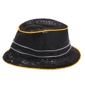 Tapa LED Cool Bling Sequins Ilumina el sombrero Jazz Hip Hop que brilla intensamente