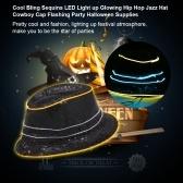 Cool Bling Sequins LED Cap Light up Glowing Hip Hop Jazz Hat