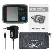 Vollautomatische digitale Blutdruck-Monitor Pro Oberarm Manschette Tonometer Hematomanometer Blutdruckmessgerät Pulsometros Herzen Fahrradbeleuchtung für Herzblut W / LCD-Display