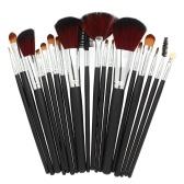 Set de pinceles de maquillaje profesional 18 piezas con bolsa negra