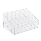24 Grid Lip Gloss Lipsticks Organizador Transparente ABS Lipstick Holder Lip Gloss Display Stand com 24 Grids