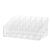 24 Grid Lip Gloss Lipsticks Organizer Transparent ABS Lipstick Holder Lip Gloss Display Stand With 24 Grids