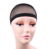 Black Hair Net Weben Net schwarz elastische Stretch Perücke Cap Mesh Fischnetz Perücke Cap