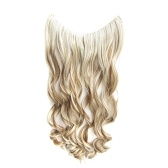 One Piece No Clip Hair Extensions Long Curly Hairpiece