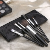7PCS Eyeshadow Essential Brushes Kit + Bolsa De Armazenamento Rosa