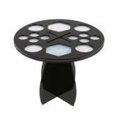 Pinsel Air Drying Verfassungs-Bürsten-Halter-14-Loch-Bürsten-Wäschetrockner Kosmetische Drying Pinsel Organizer Rundbürste Regal Schwarz-Bürsten-Aufbockvorrichtung