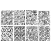 8枚/ネイルズアートデコレーションのヒントサロンアクセサリツールについてはブラック3Dネイルアートステッカーデカールパッチメタリックの花のデザインをパック