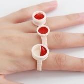100pcs Microblading pigmento pegamento anillos contenedor copa