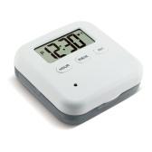 Пыленепроницаемый отдельный органайзер для таблеток Коробка для таблеток Электронный таймер Будильник Напоминание Диспенсер для хранения лекарств