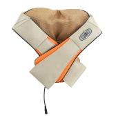 En forma de U eléctrica Volver hombro del cuello masajeador Shiatsu calefacción por infrarrojos amasar masaje para el hogar del coche Uso enchufe de EE.UU.