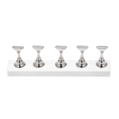 5pcs / set Magnetic Nail Tips Stand Holders Acrílico Long Crystal Practice Stand Display Manicure Tools